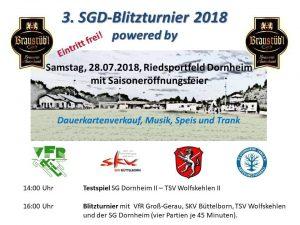 3. SGD-Blitzturnier @ Riedsportfeld | Groß-Gerau | Hessen | Deutschland