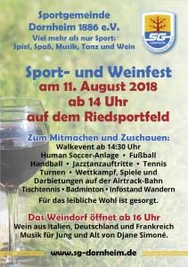 Sport- und Weinfest @ Riedsportfeld | Groß-Gerau | Hessen | Deutschland